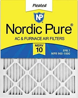 Nordic Pure 20x25x1 MERV 10 Pleated AC Furnace