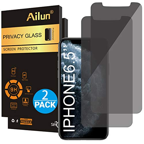 Ailun Privacy Screen Protector Compatible with iPhone 11 Pro Max/iPhone Xs Max 6.5 Inch 2 Pack Anti...