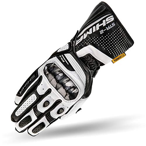 SHIMA STR-2, Sport Armored Leather Long Touchscreen Motorcycle Gloves for...