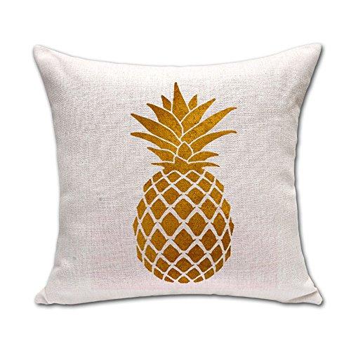 Hengjiang WEIANG Ananas-Kissenbezug, Baumwollleinen, quadratisches Kissen, kreative Ananas (12)