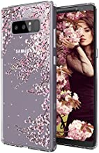 MOSNOVO Case for Galaxy Note 8, MOSNOVO Cherry Blossom Floral Flower Printed Clear Design Transparent Plastic Hard Slim Case with TPU Bumper Protective Case Cover for Samsung Galaxy Note 8