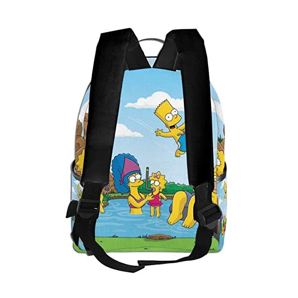 51GcvXAbIcL. SS600  - Cartoon The Simpsons - Mochila para Estudiantes, Unisex, diseño de Dibujos Animados, 14,5 x 30,5 x 12,7 cm