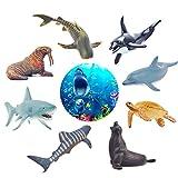 GizmoVine Animal Marino Juguetes para Niños Educativo Animal Figuras de Aprendizaje con Caja de Regalos para Niños Niñas Cumpleaños