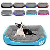 ZEEXIPDR Dog bed Cat bed Pet bed Super soft pet sofa bed, soft wool fleece PP cotton made into a pet bed, suitable for small medium dogs or cats