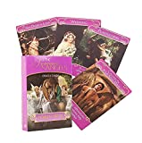 The Romance Angels Tarot Oracle Cards with PDF Instructions, New Gold-Plated Series Divination Fate Oracle Tarot Deck Board Game 78 Cards