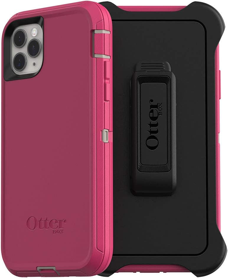 OtterBox DEFENDER SERIES SCREENLESS EDITION Case for iPhone 11 Pro Max - LOVE BUG (Raspberry Pink) (DOVE/RASPBERRY)