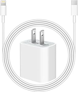 iPhone Charger for iPhone 13 12 [Apple MFi Certified] 20W PD Fast Type C Wall Charger with 6FT Charging Cable Compatible iPhone 13/13 Mini Pro Max/12 Pro Max/12 Mini/11 Pro Max/Xs Max/XR/X/8Plus,iPad