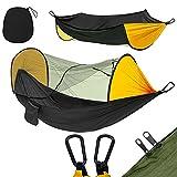 NDAJWGZ Hamaca de Camping Ligero con mosquitera para mochileros, Viajes, Playa, Patio, Patio, Senderismo (Color : Black)