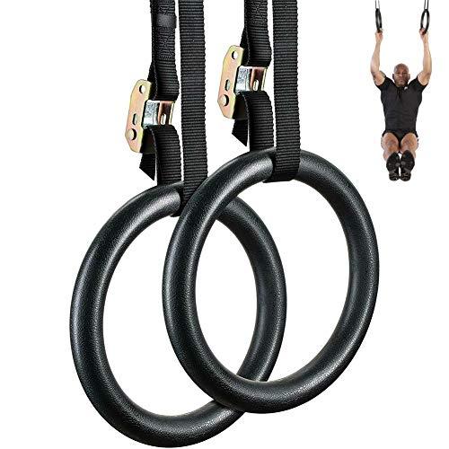 FDYD Turnringe mit verstellbaren Trägern, erstaunlicher Gym Ringe für Muskelkörpergewicht Training schnell zu Bauen Stärke und schlanke Muskelmasse