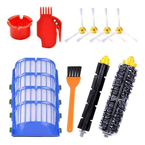 WDGNY Accesorios de limpieza Top Venta Piezas de repuesto Ajuste para IRobot Roomba Serie 600 595 614 620 650 652 671 675 680 690 Kit de cepillo de aspiradora robótica