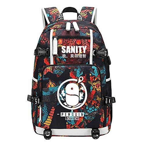 Unisex Arknights Rucksäcke Multifunktionale Rucksack Mode große Kapazität Schultasche lässig Reisetasche for Studenten (Color : A03, Size : 47 X 30 X 15cm)