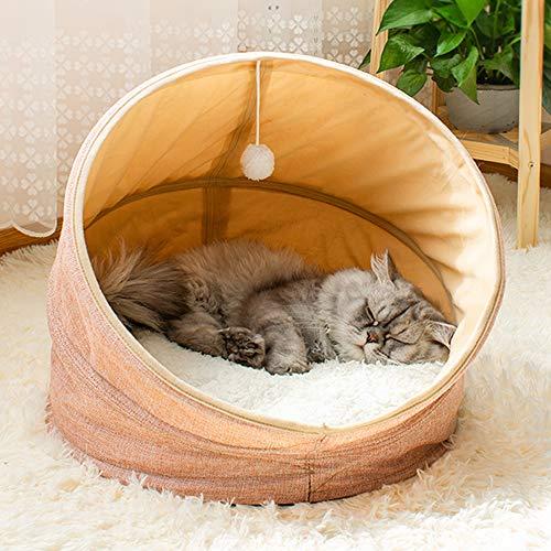 SKRTUAN kuschelhöhle Katze katzenhöhle waschbar katzenhaus isoliert hundebett Winterfest katzenbett flauschig Katzenzelt 45 * 45 * 40cm…