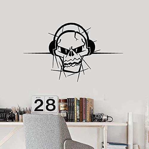 Tianpengyuanshuai fotobehang muziek hoofdtelefoon speler tiener slaapkamer muziekstudio hip hop decoratieve vinyl glassticker