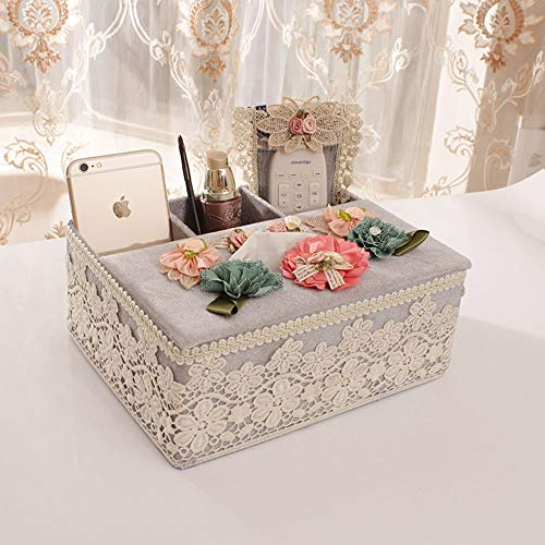 JJSFJH Cubierta de Caja de Tejido Rectangular de Perfume Creativo, toallero de Toalla de Papel de baño Decorativo, Deslizador Inferior (Color : Q)