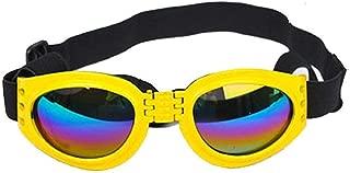 Sincrystal Foldable Dog Sunglasses Pet Eye Protection Windproof Pet Goggles Sunscreen Polarized Glasses