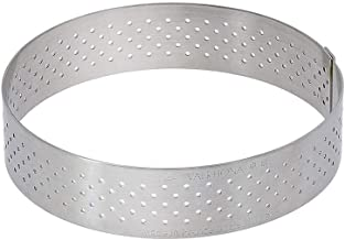 "De Buyer Perforated Tart Ring, 0.75"" High O 9.75"", Silver"