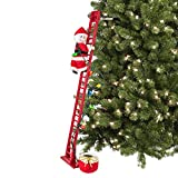 Mr. Christmas 36885 Super Climbing Plush Snowman Holiday Decoration, 40-inch, Red