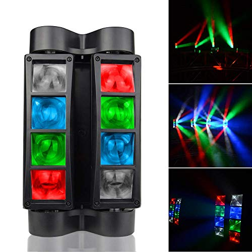 AONCO 80W Moving Head LEDs Lichteffekt DJ Partylicht Disco Bühnenlicht DMX512 RGBW Lichter für Bar Weihnachten Halloween Party