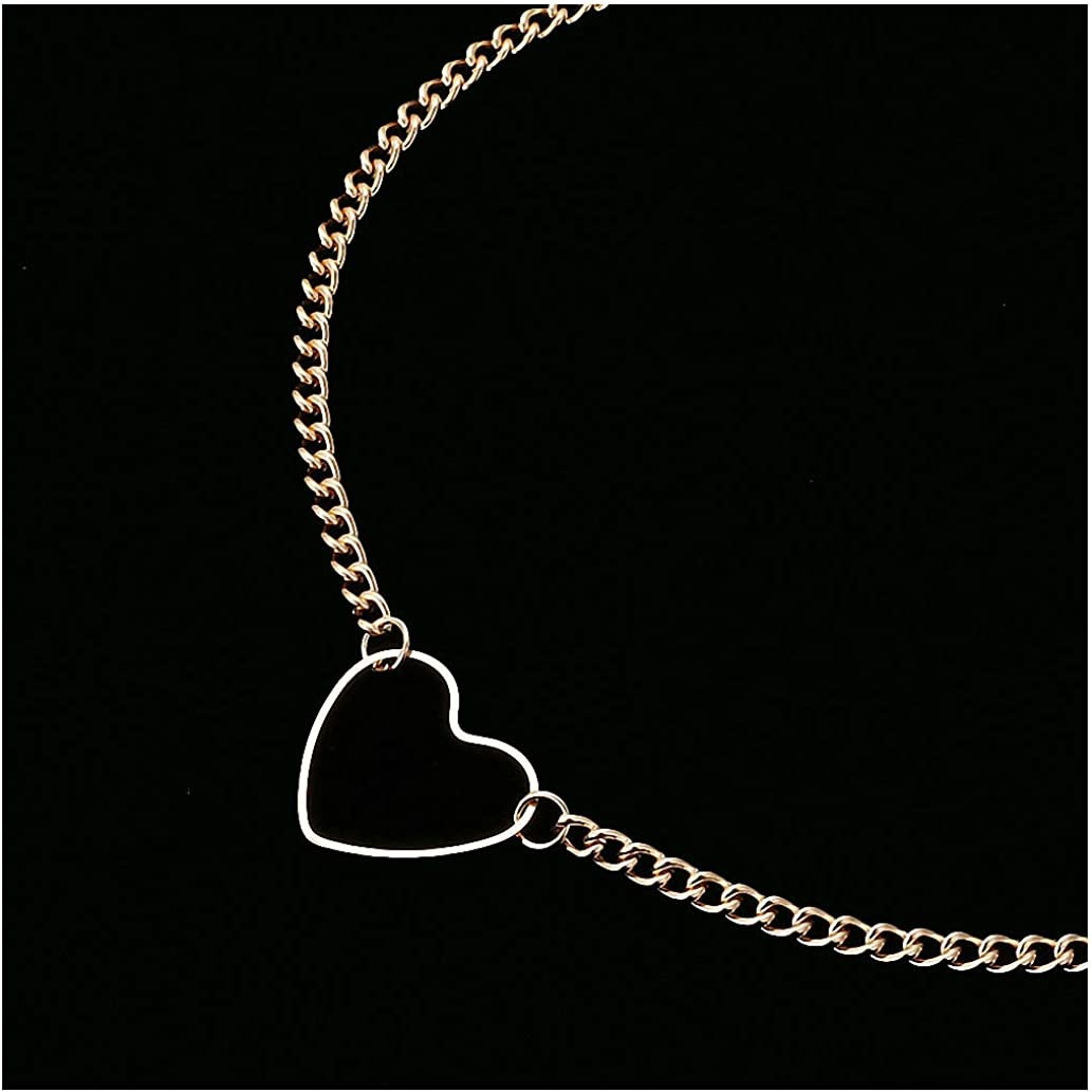 Tebapi Womens Pendant Necklaces Hollow Heart Choker Necklaces for Women Clavicle Colar Statement Necklace Collares Heart Dainty Pendant Necklace Gift