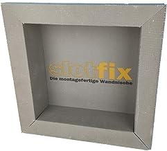 SLOTFIX | montageklare wandversiering binnenafmetingen 30 x 30 x 10 cm douchewandplank opslagruimte universeel voor droogb...