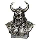 Büste Wikinger Odin höchster nordischer Gott bronze