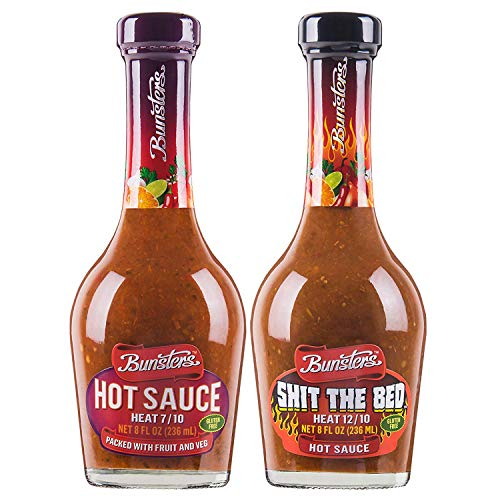 Bunsters Shit The Bed 12/10 Heat Hot Sauce - Chili Pepper Sauce (Single Bottle)