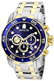 Invicta Men's Pro Diver Quartz Watch with Stainless Steel Strap, Silver, 26