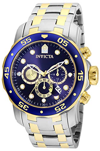 Invicta Men's Pro Diver Quartz Watch with Stainless Steel Strap, Silver, 26 (Model: 24849)