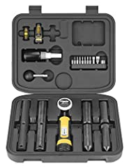 """INCLUDES: Torque Screwdriver Wrench, 10 screwdriver bits, Wheeler Level-Level-Level, 1"""" & 30mm scope ring lapping bars, 1"""" & 30mm scope ring alignment bars, lapping bar handle, lapping compound, thread lock, and Wheeler PRLS Reticle Leveling System V..."""