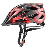 Uvex Fahrradhelm i-vo cc, red-darksilver-Black mat, 56-60 cm