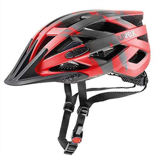 Uvex Fahrradhelm i-vo cc, red-darksilver-Black mat, 52-57 cm