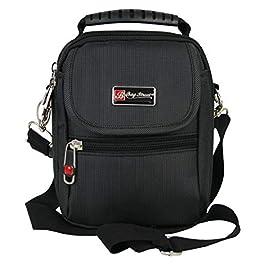 BagStreet Petit sac à bandoulière noir sac à bandoulière pour hommes avec plusieurs compartiments