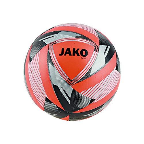 JAKO Miniball Neon Fußbälle, Flame/Silber, 1