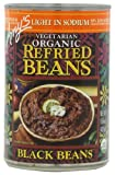 Amy's Organic Refried Beans, Light in Sodium Black Beans, 15.4 Ounce (Pack of 12)