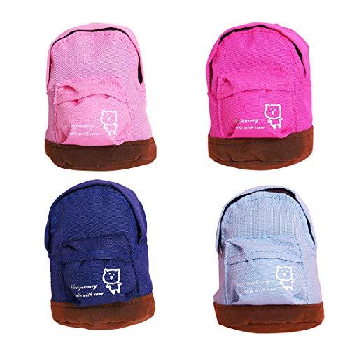 LZYMSZ 4 Pack Mini Geldbörse, Schlüsselanhänger Rucksack Tasche Oxford Stoff Kreditkarte Organizer Geldbörse für Mädchen Frauen in Travel School Party (Color-1)
