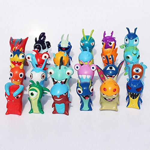 Yuirwe 24 unids/Set Dibujos Animados Mini Slugterra PVC Figuras de acción Juguetes muñecas Modelo...