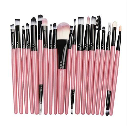 LIANMIBA Kosmetika 20/5 stücke Make-up Pinsel Set Lidschatten-Foundation Pulver Eyeliner Wimpernlippe Make-up Pinsel Cosmetic Beauty Tool Kit heiß (Handle Color : Pink Black)