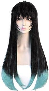 Xingwang Queen Anime Cosplay Wig 75cm Long Black Green Gradient Wig Women Girls` Party Wigs