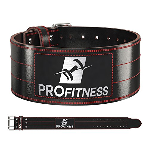 Weight Lifting Belt (4 Inch Wide) – Genuine Leather Workout Belt for Men & Women - Great for...