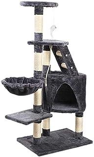 i.Pet Cat Tree 120cm Cat Scratching Post Tower Scratcher Home Pet Furniture Grey