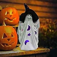 Yjfwal Realistic Resin Ghost Sculpture Halloween Light Decorations