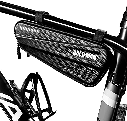 Gran Capacidad Bolsa Triangular De Bicicleta, Impermeable Bolsa Para Cuadro De Bicicleta Fácil De Instalar Bolsa Bicicleta Tubo Frontal Para Mini Bomba, Herramienta De Reparación De Bicicletas