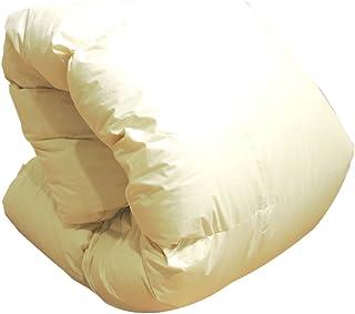 羽毛布団 増量 日本製 ジュニア アイボリー無地 ホワイトマザーダックダウン93% 400dp かさ高165mm以上 綿100%生地使用 135×185cm 消臭抗菌 アレルGプラス加工 キッズ 子供用