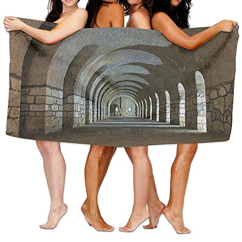Wxf Apartment Corridor In An Old Fortress Touristic Historical Landmark Medieval Hallway Arch Soft Lightweight Beach Towel Pool Towel 30x50