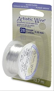 Beadalon Artistic Wire 28 Gauge 15yd-Non-Tarnish Silver, Other, Multicoloured, 4.72 x 4.64 x 11.48 cm