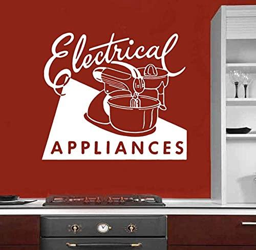 Gifts for Bakers Kitchen Art Vinyl Sticker Wall Decoration Electrical Appliances Retro Ad Blender Restaurant Decor 65 * 57Cm