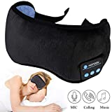 Homder Sleep Headphones Bluetooth 5.0 Eye Mask for Men Women, Noise Cancelling Sleeping Mask Block Light, Soft Comfort with Adjustable Strap for Sleeping, Travel, Washable