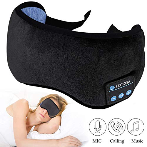 Homder Sleep Headphones Bluetooth 5.0 Eye Mask for Men Women, Noise Cancelling Sleeping Mask Block...