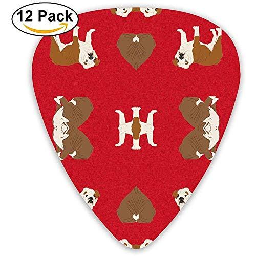 Hondendeken, Engelse buldog, stoffen deken, voor honden, picks, voor elektrische gitaar, 12 stuks