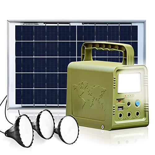 ECO-WORTHY Sistema de iluminación generador solar estación energía portátil con panel solar...